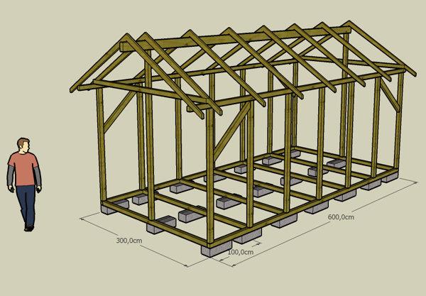 Plan cabane en bois facile